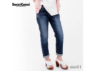Sweet Camel/スイートキャメル ハイパワーストレッチデニム テーパード 【R3濃色USED/サイズ61】■SC5392