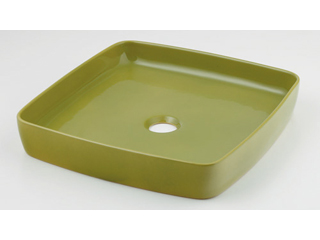 KAKUDAI/カクダイ 493-096-GR 角型手洗器 (ピスタチオ)