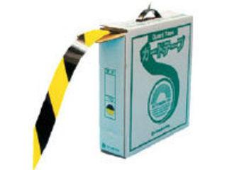 J.G.C./日本緑十字社 ラインテープ(ガードテープ) 黄/黒 再剥離タイプ 50mm幅×100m 149036