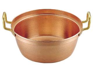 MARUSHIN/丸新銅器 SA銅 円付鍋 両手(錫引きなし)/42cm