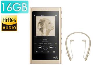 SONY/ソニー NW-A55WI-N(ペールゴールド) 16GBウォークマンAシリーズ(メモリータイプ) ワイヤレスヘッドホン付属