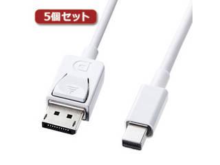 サンワサプライ 【5個セット】 サンワサプライ ミニ-DisplayPort変換ケーブル1m KC-DPM1WX5