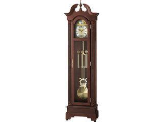 RHYTHM/リズム時計 4RN417RH06 【HIARM-417R】 電波置時計(大) 茶色半艶仕上/飾り振り子付