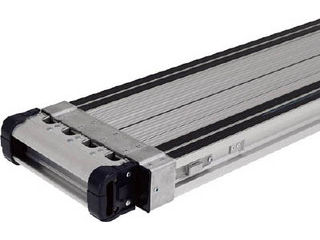 【組立・輸送等の都合で納期に1週間以上かかります】 ALINCO/アルインコ 【代引不可】伸縮式足場板VSSR-H(スベリ止め付き) VSSR240H