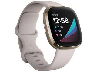 Fitbit フィットビット Fitbit Sense GPS搭載 スマートウォッチ ルナホワイト/ソフトゴールド L/S サイズ  FB512GLWT-FRCJK