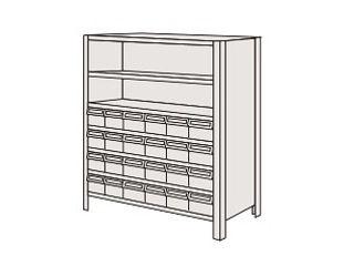 SAKAE/サカエ 【代引不可】物品棚LEK型樹脂ボックス LEK8117-24T