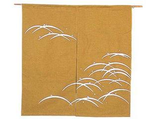 露芝 のれん N106-04 金茶 850×900