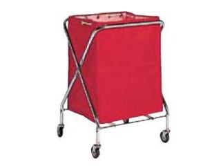 【代引不可】BM ダストカー 袋付(折りたたみ式)小 赤 132L