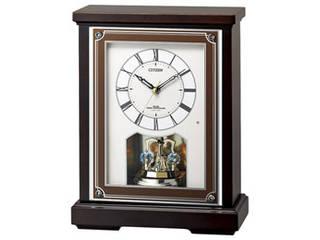 電波置時計 M71301216 高級感溢れる木枠電波置き時計