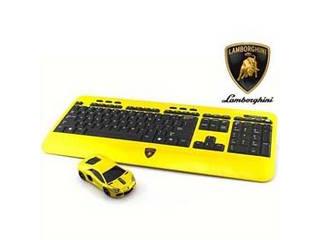 LANDMICE LANDMICE Lamborghini LP700 2.4G無線マウス+キーボード (イエロー) LB-LP700KM-YL