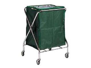 【代引不可】BM ダストカー 袋付(折りたたみ式)小 緑 132L