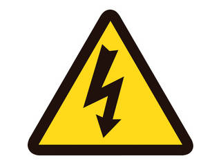 J.G.C. 日本緑十字社 PL警告ステッカー 電気危険 高電圧危険 使い勝手の良い 202005 10枚組 50mm三角 日本正規代理店品