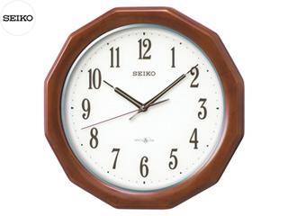 SEIKO/セイコークロック GP215B 衛星電波掛時計(スペースリンク) ラバーウッド茶木地塗装/木枠