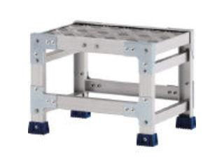 【組立・輸送等の都合で納期に1週間以上かかります】 ALINCO/アルインコ 【代引不可】作業台(天板縞板タイプ)1段 天板寸法600×600mm 高0.3m CSBC13WS