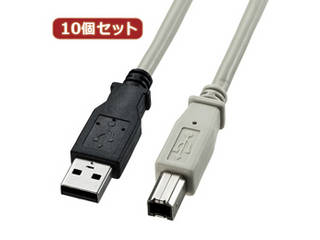 サンワサプライ 【10個セット】 サンワサプライ USB2.0ケーブル KU20-3K KU20-3KX10