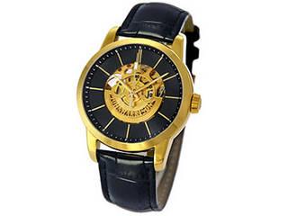 J.HARRISON J.HARRISON フロントローター 自動巻き スケルトン時計 ゴールド JH-1946GB