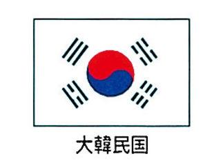 川正染工 エクスラン万国旗 70×105/大韓民国