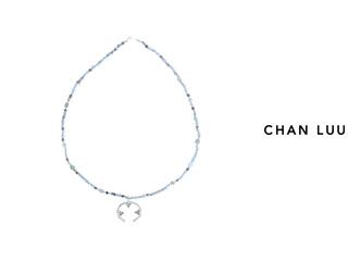 CHAN LUU/チャンルー セミプレシャスストーン ネックレス NSZ-12228(BLUE LACE AGATE MIX) チャンルーオリジナル巾着袋付き!