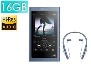 SONY/ソニー NW-A55WI-L(ムーンリットブルー) 16GBウォークマンAシリーズ(メモリータイプ) ワイヤレスヘッドホン付属