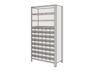 SAKAE/サカエ 【代引不可】物品棚LEK型樹脂ボックス LEK2122-48T