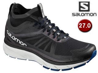 SALOMON/サロモン L40236800 SONIC RA NOCTURNE ランニングシューズ メンズ 【27.0cm】(Black/ReflectiveSilver/SurfTheWeb)