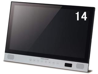 【納期3月下旬以降】 GREEN HOUSE/グリーンハウス GH-PBD14A-BK(ブラック) 14型ポータブルブルーレイディスクプレーヤー チルトスタンド付き フルHD(1920×1080)/高精細LEDバックライト/CPRM VRモード対応/タッチセンサー採用