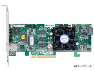 ARECA SAS RAIDカード4ポート PCIe X8 1xSFF-8643Mini SAS HD(SFF-8643) ARC-1216-4I