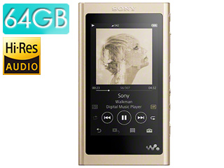 SONY/ソニー NW-A57-N(ペールゴールド) 64GB ウォークマンAシリーズ(メモリータイプ) ヘッドホン付属なし