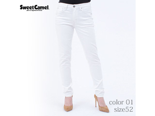 Sweet Camel/スイートキャメル ハイパワーストレッチdenimsta/スキニー【01=ホワイト/size 52】■(SC5381)