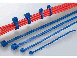 HellermannTyton/ヘラマンタイトン ふっ素樹脂製結束バンド(耐熱・耐薬品グレード)100本入り(青) T50R-TZ