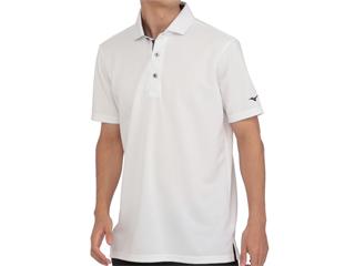 mizuno/ミズノ アイスタッチシャンブレー半袖シャツ 共衿 Mサイズ ホワイト 52MA0016-01