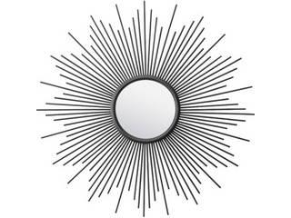 東谷/あづまや【メーカー直送代引不可】 ミラー 鏡部直径21.5cm 4mm飛散防止タイプ ブラック TSM-77BK 【同梱不可】 【沖縄・九州・北海道・離島お届け不可/配送時間指定不可】