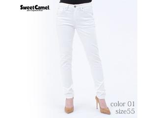 Sweet Camel/スイートキャメル ハイパワーストレッチdenimsta/スキニー【01=ホワイト/size 55】■(SC5381)