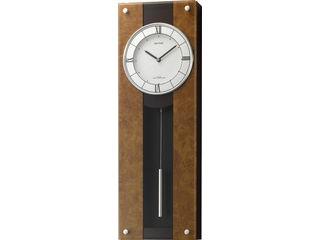 RHYTHM/リズム時計 4MXA01RH06 電波掛時計 【モダンライフM01】 木枠(MDF材)/飾り振り子付 【RPS160324】