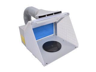 換気扇の無い場所で臭いを強制排出!LEDライト付パワフルファン塗装ブース