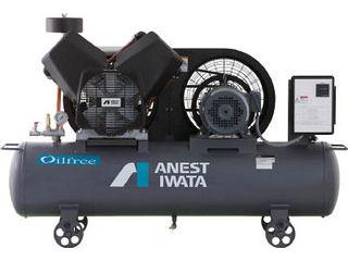 ANEST IWATA/アネスト岩田コンプレッサ 【代引不可】レシプロコンプレッサ(タンクマウント・オイルフリータイプ)60Hz TFP15CF-10M6