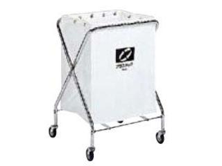 【代引不可】BM ダストカー 袋付(折りたたみ式)小 白 132L