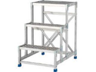【組立・輸送等の都合で納期に1週間以上かかります】 ALINCO/アルインコ 【代引不可】作業台(天板縞板タイプ)4段 CSBC4128S