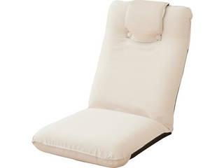 低反発座椅子(ヘッドレスト付)2個組 アイボリー SS-1IV-2