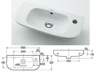 KAKUDAI/カクダイ 壁掛手洗器 #DU-07065000082