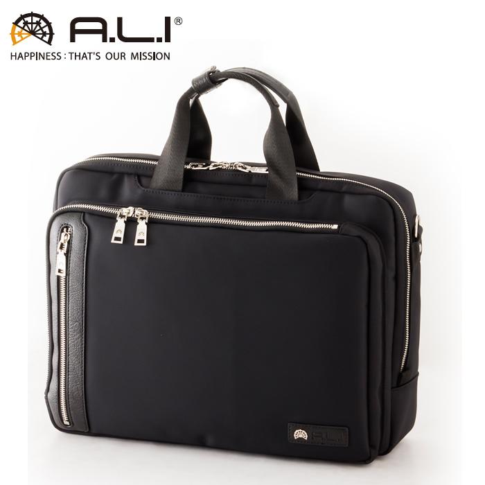 A.L.I/アジア・ラゲージ AGBS-3432 メンズ ビジネスバッグ (ブラック)