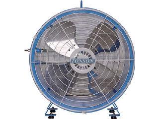 AQUA/アクアシステム 【代引不可】エアモーター式 軸流型 送風機 (アルミハネ45cm) AFR-18