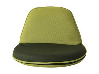 持ち運びしやすい折りたたみ座椅子4個組 グリーン MZ-028M-GR-4
