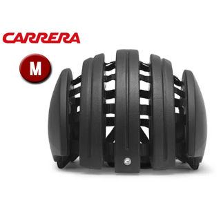 CARRERA/カレラ FOLDABLE LEATHER シティバイクヘルメット 【Mサイズ(S/M)】 (Black Leather)