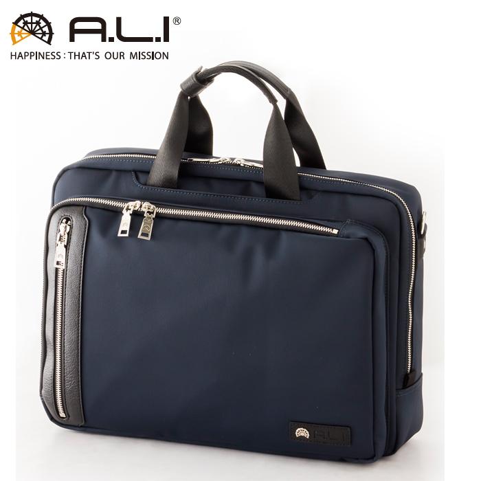 A.L.I/アジア・ラゲージ AGBS-3432 メンズ ビジネスバッグ (ネイビー)