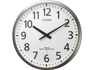 CITIZEN/シチズン 4MY839-019 【スリーウェイブM839】 高感度電波掛時計 銀色ヘアライン仕上(白)/金属枠(ステンレス材)