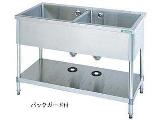 タニコー 【代引不可】18-0二槽シンク(バックガード付)/TX-2S-90 沖縄・九州・北海道にはお届けができません。