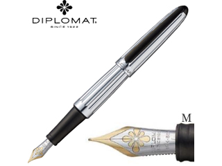 DIPLOMAT/ディプロマット 万年筆■アエロ【ファクトリー】■14Kペン先 【M/中字】(1957242)