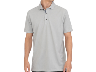 mizuno/ミズノ アイスタッチシャンブレー半袖シャツ 共衿 Lサイズ ディープネイビー 52MA0016-14
