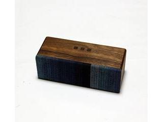 ヨシモク SOUNDFLY(サウンドフライ)SJ Bluetooth 木製スピーカー ウォールナット 藍グラデーション SF-SJ WG ・木製、素材、音へのこだわり ・徳島